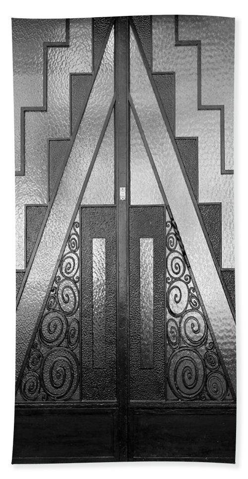 Paris Bath Sheet featuring the photograph Art Deco Door by Andrew Fare