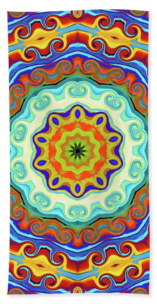 Mandala Art Hand Towel featuring the painting Art by Jeelan Clark