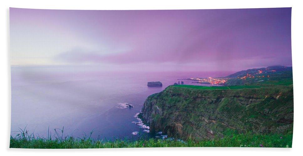 Azoren Bath Towel featuring the photograph Azores Coastal Landscape by Gaspar Avila