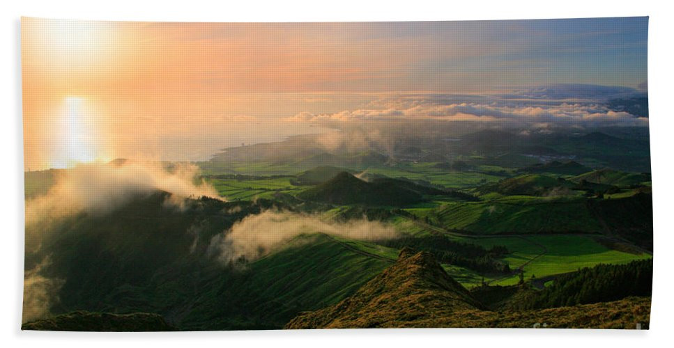 Coast Bath Sheet featuring the photograph Azores Islands Landscape by Gaspar Avila