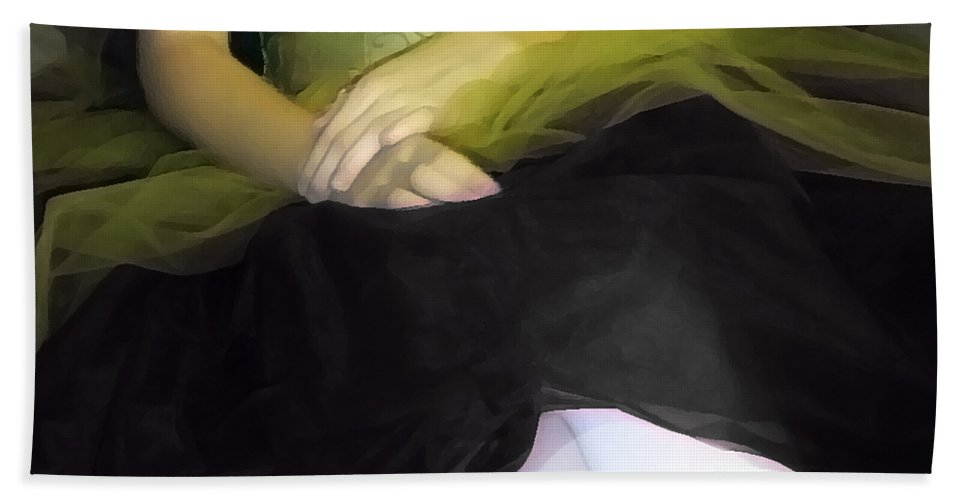 Abstract Hand Towel featuring the photograph Ballerina Lap 2 by Angelina Tamez