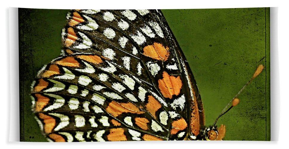 Butterflies Bath Sheet featuring the photograph Baltimore Checkerspot by Ingrid Smith-Johnsen