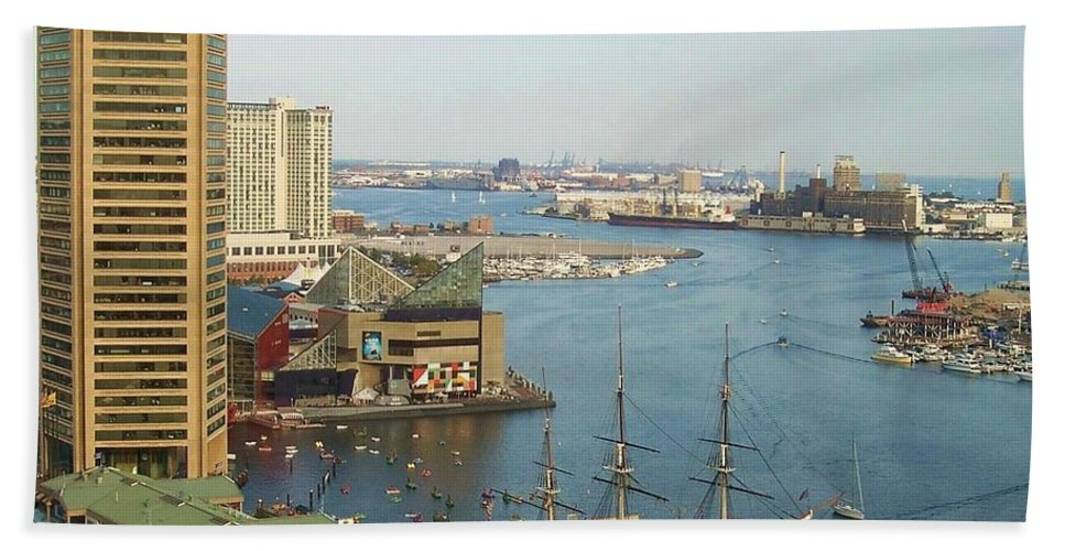 Baltimore Bath Towel featuring the photograph Baltimore by Debbi Granruth