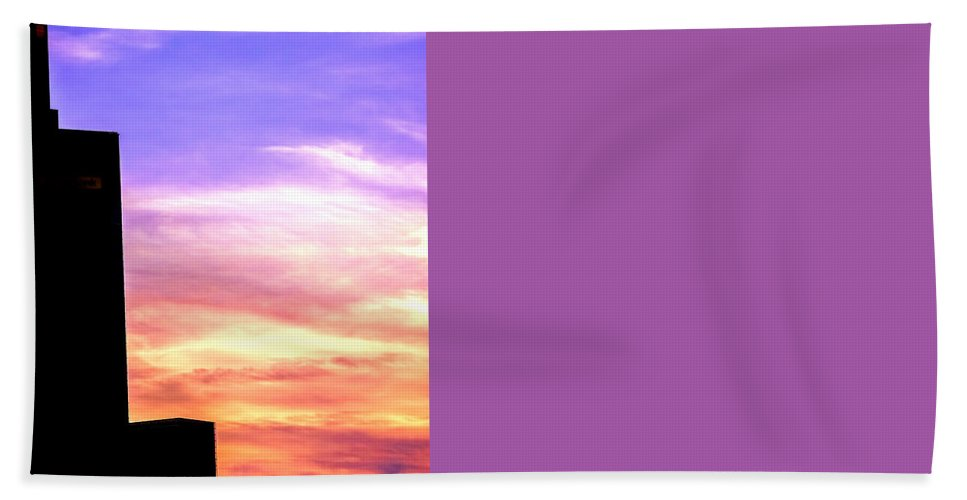 Architecture Bath Sheet featuring the photograph Beautiful Sunset by Jijo George