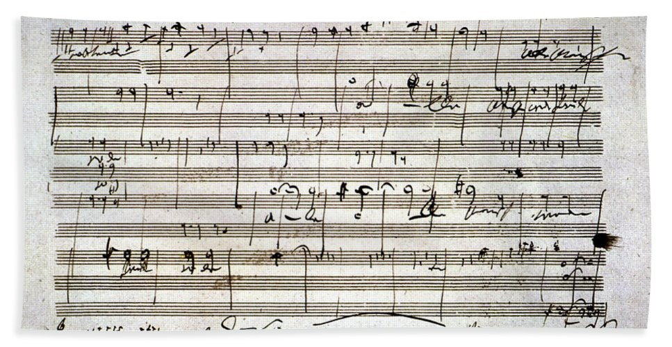 18th Century Bath Towel featuring the photograph Beethoven Manuscript by Granger