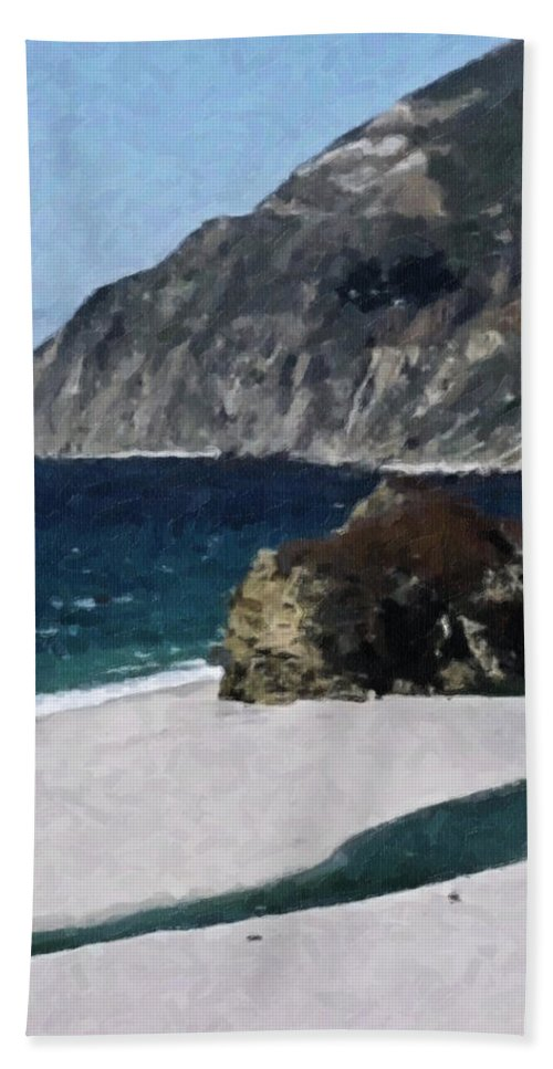 Big Bath Sheet featuring the digital art Big Sur California by Teresa Mucha