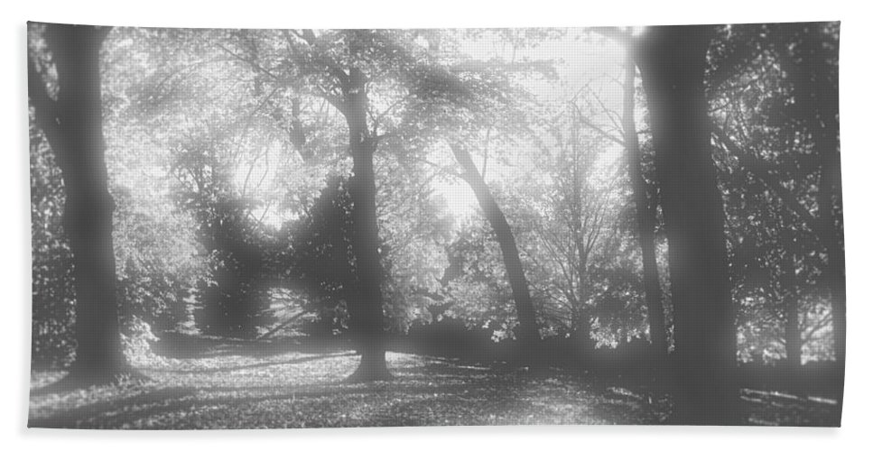 Root River Parkway Bath Sheet featuring the photograph Black And White by Debbie Nobile