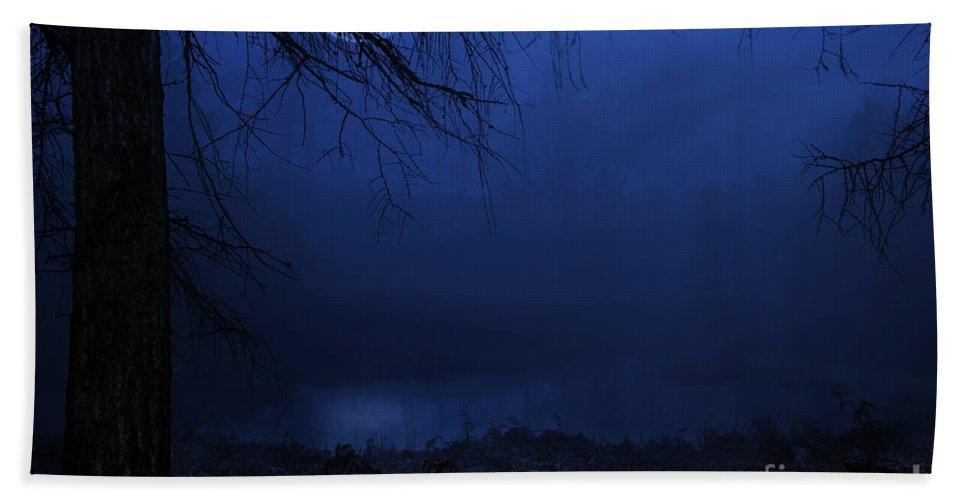 Blue Moon Bath Sheet featuring the photograph Blue Moon by Ann Garrett