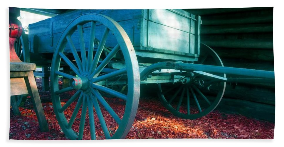 Blue Hand Towel featuring the photograph Blue Wagon by David Lee Thompson