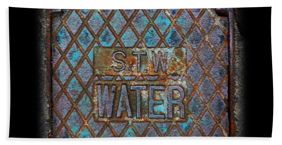 Water Bath Sheet featuring the photograph Blue Water by Charles Stuart