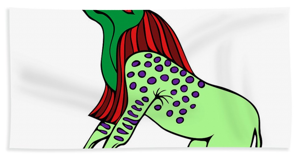 Bone Eater Hand Towel featuring the digital art Bone Eater by Michal Boubin