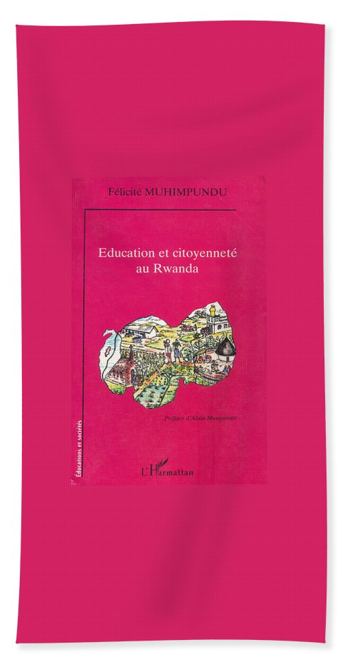 Book Cover Bath Sheet featuring the painting Book Cover Education Et Citoyennete Au Rwanda by Emmanuel Baliyanga