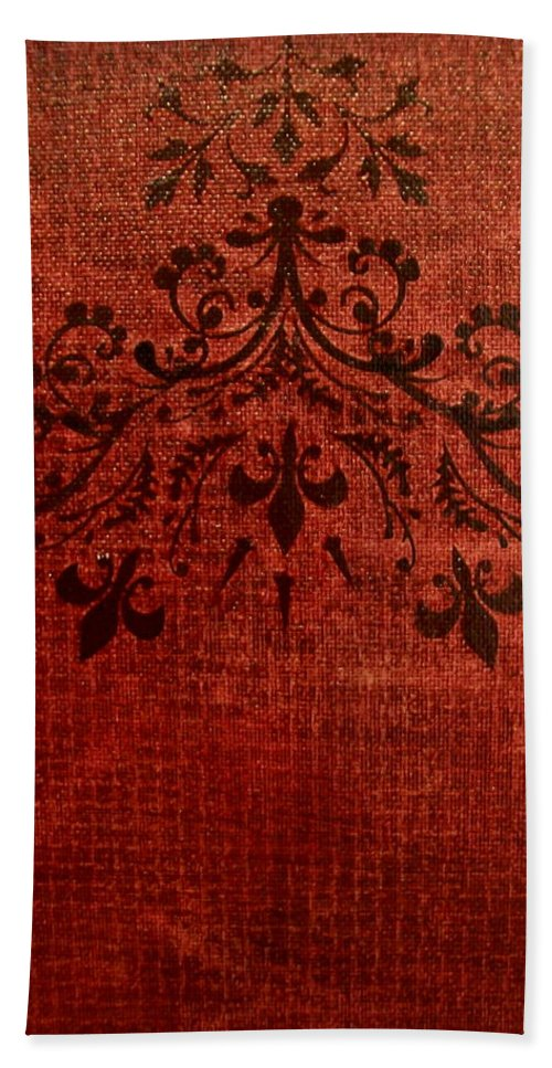 Red Bath Sheet featuring the painting Boudoir Two by Laurette Escobar