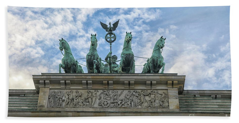 Gate Bath Sheet featuring the photograph Brandenburger Gate, Berlin by Patricia Hofmeester
