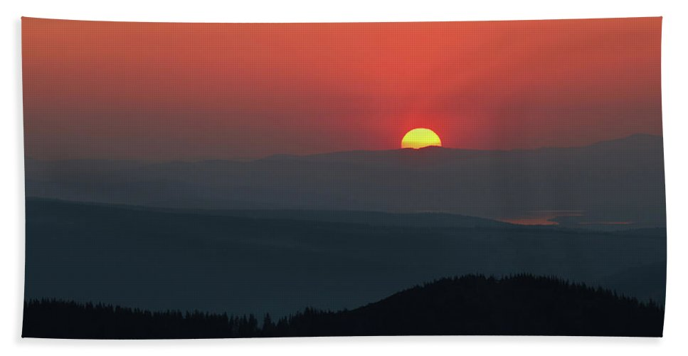 Hill Bath Towel featuring the photograph Breathtaking Sunset At Tatra Mountains, Carpathian Region, Poland by Lukasz Szczepanski