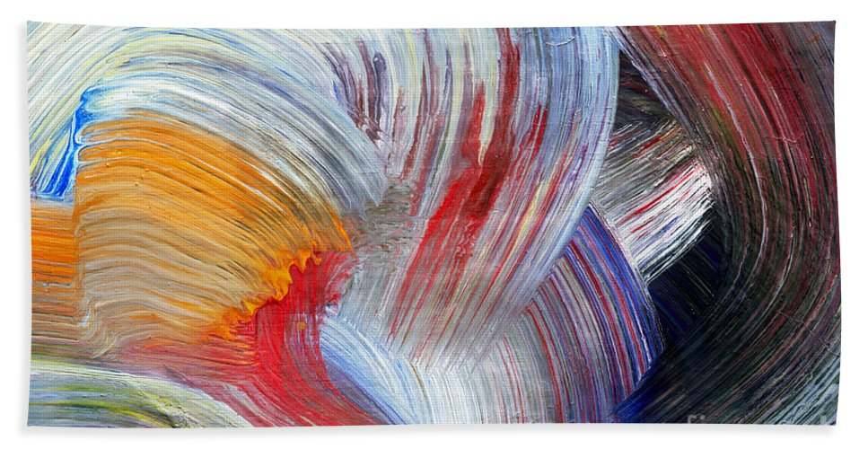 Stroke Hand Towel featuring the painting Brush Strokes by Michal Boubin