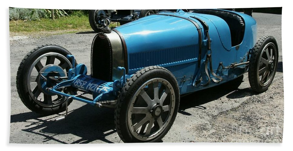 Oldtimer Bath Sheet featuring the photograph Bugatti Oldtimer by Christiane Schulze Art And Photography