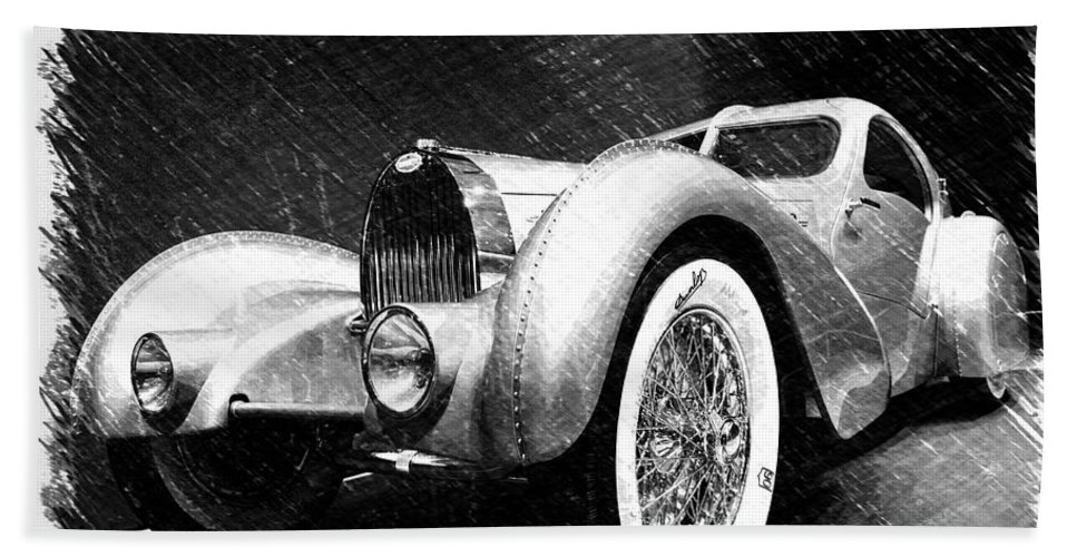 Bugatti Hand Towel featuring the photograph Bugatti Type 57 Aerolithe by Dick Goodman