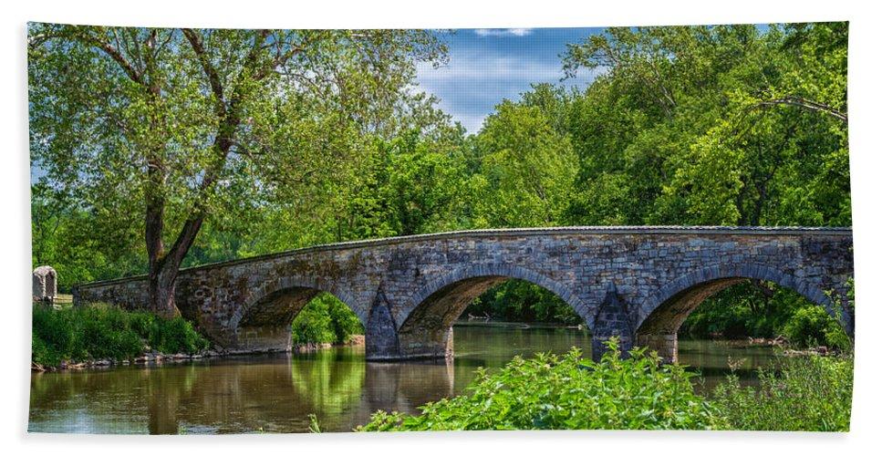 Antietam Hand Towel featuring the photograph Burnside Bridge, Antietam by Lori Coleman