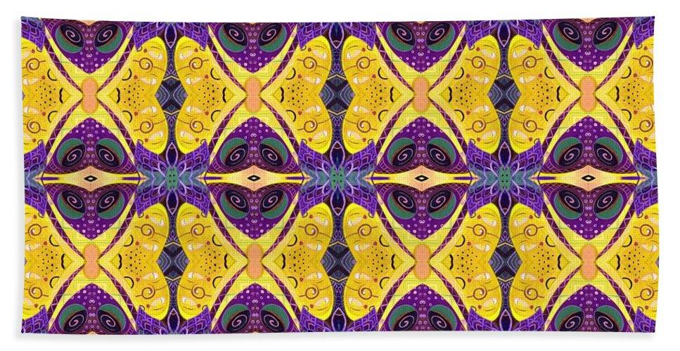Butterflies Bath Towel featuring the digital art Butterflies by Helena Tiainen