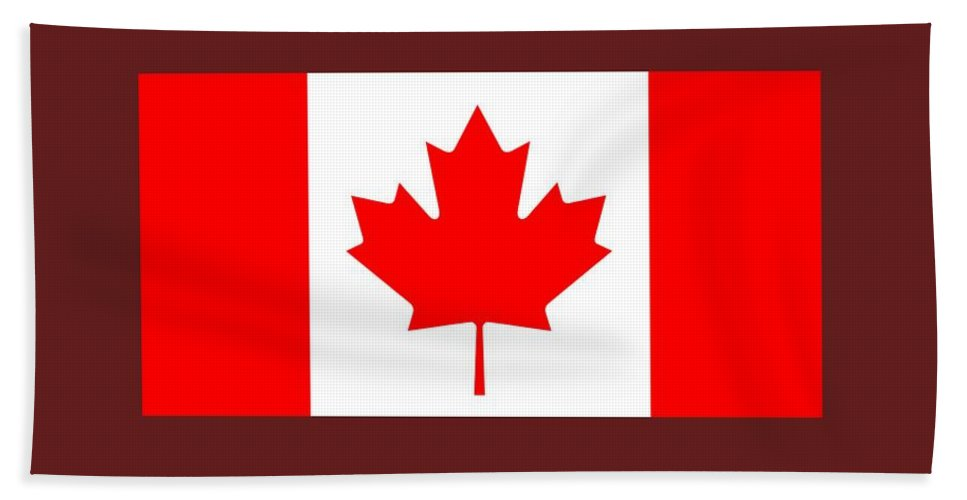 Banner Hand Towel featuring the digital art Canada Flag by Frederick Holiday