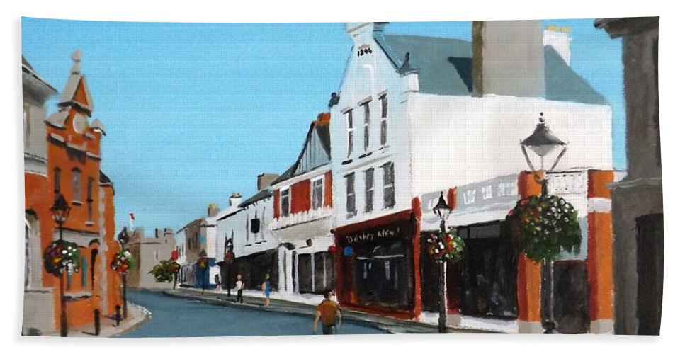 Castle Street Dalkey Bath Towel For Sale By Tony Gunning