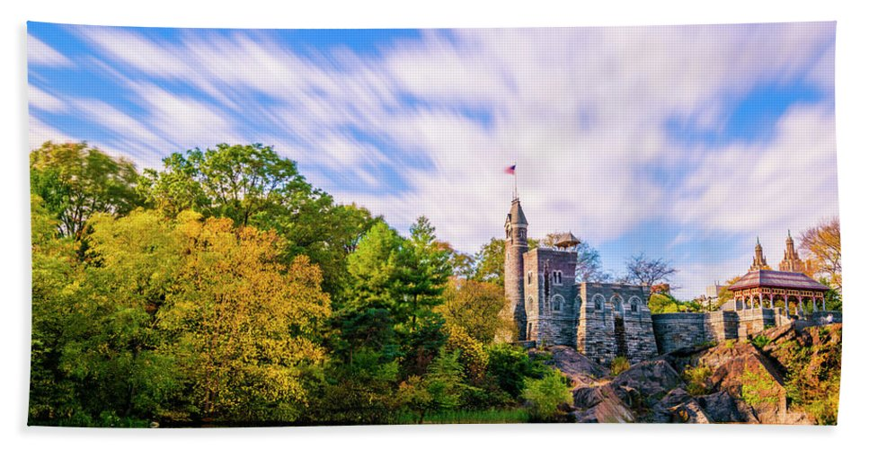 Central Park Bath Sheet featuring the photograph Central Park, New York by Tetyana Ohare