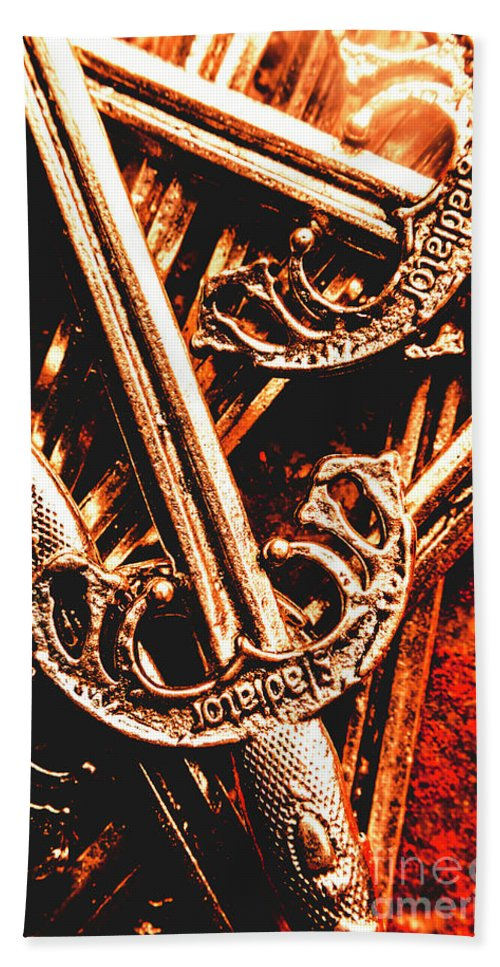 Gladiator Bath Towel featuring the photograph Centurion Of Battle by Jorgo Photography - Wall Art Gallery