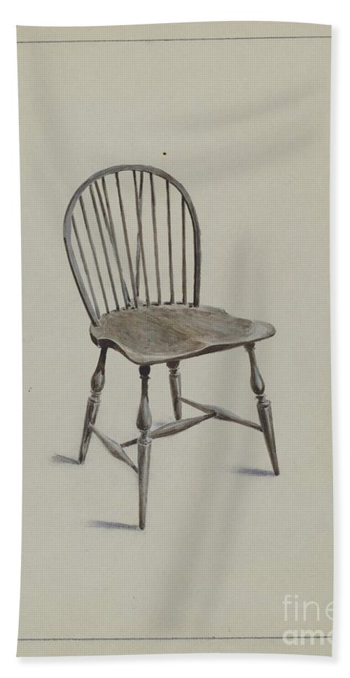 Hand Towel featuring the drawing Chair by Simon Weiss