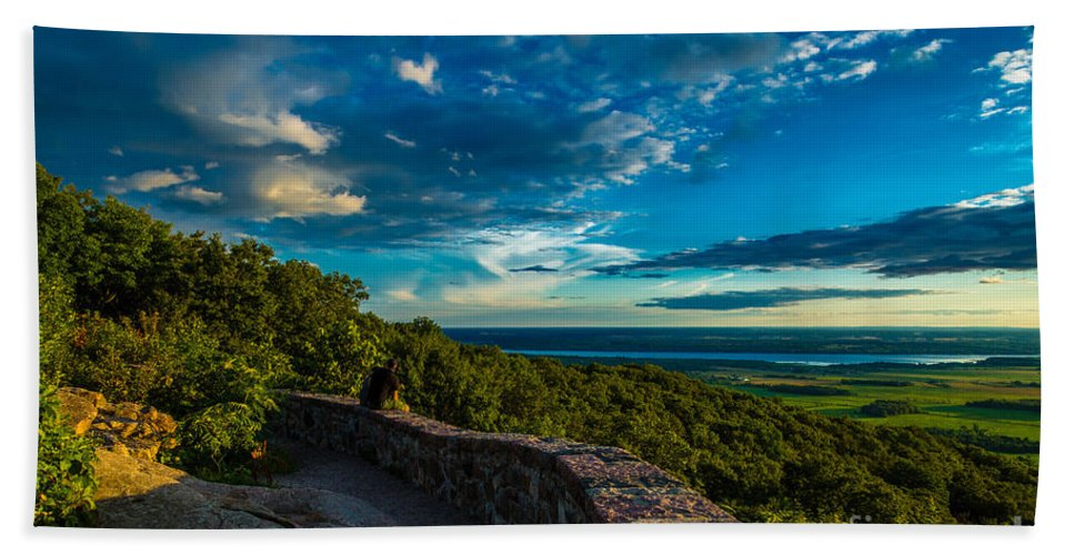 Quebec Hand Towel featuring the photograph Champlain Lookout by Roger Monahan