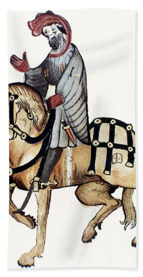 1410 Bath Sheet featuring the photograph Chaucer: Canterbury Tales by Granger