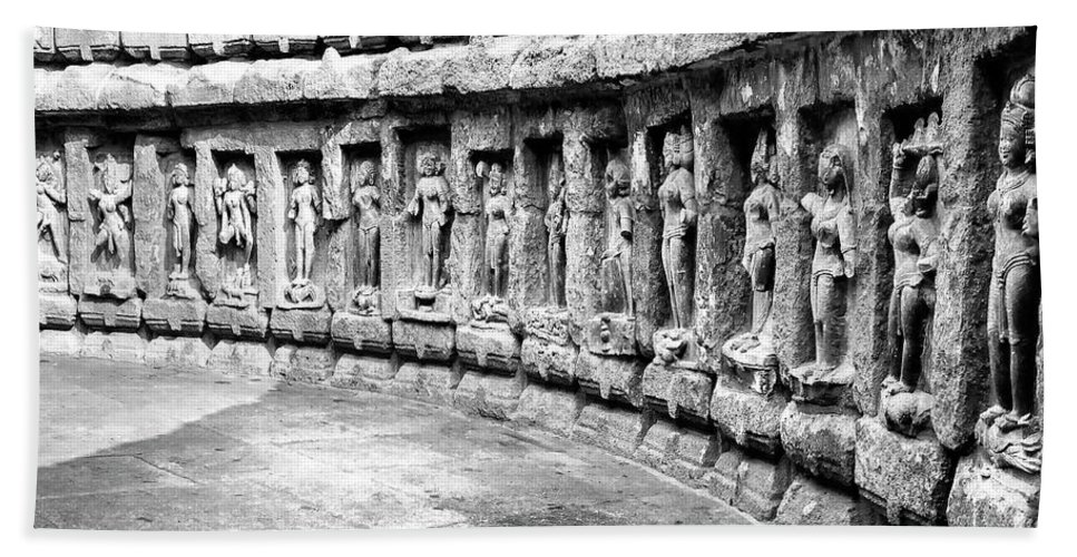 India Bath Sheet featuring the photograph Chausath Yogini Temple by Dominic Piperata