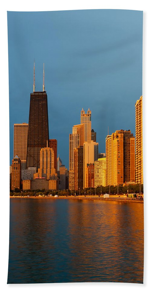 Chicago Hand Towel featuring the photograph Chicago Skyline by Sebastian Musial