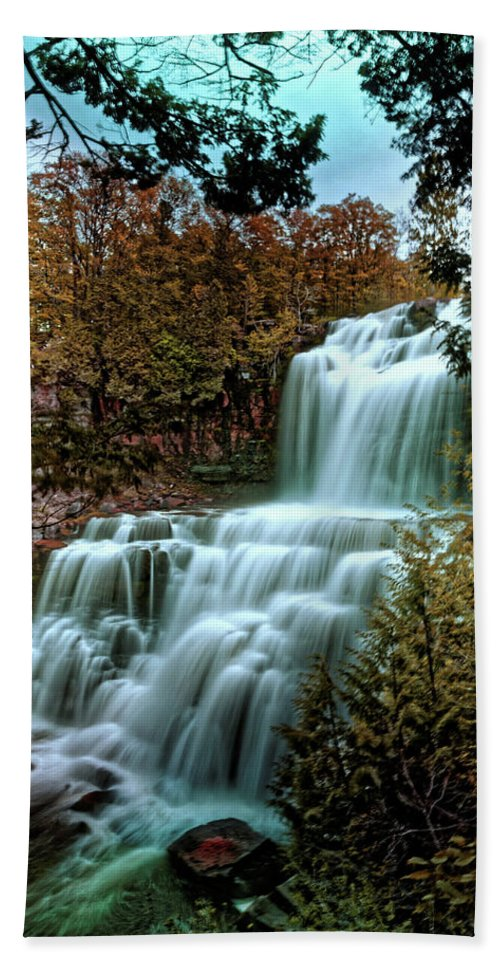 Chittanengo Falls Bath Sheet featuring the photograph Chittanengo Falls by Doolittle Photography and Art