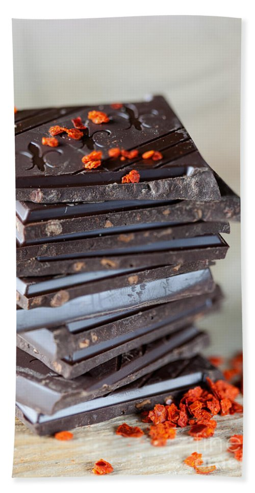 Chocolate Hand Towel featuring the photograph Chocolate And Chili 1 by Nailia Schwarz
