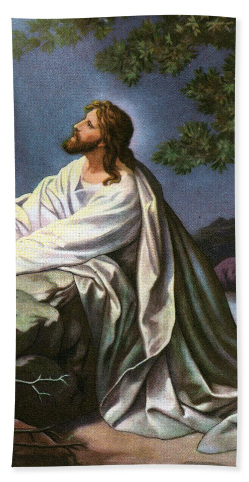 Christ In The Garden Of Gethsemane Bath Towel For Sale By Heinrich