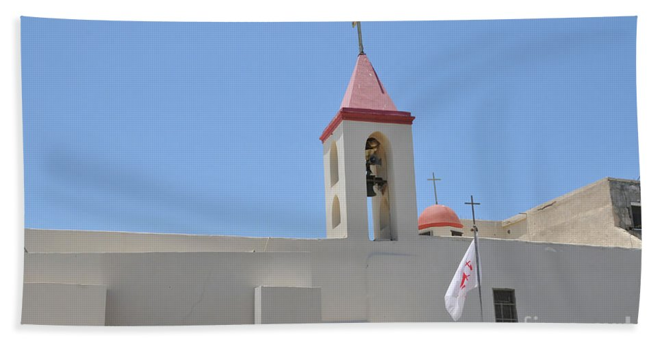 Christian Hand Towel featuring the photograph Church Of St. John The Baptist, Acre by Shay Levy