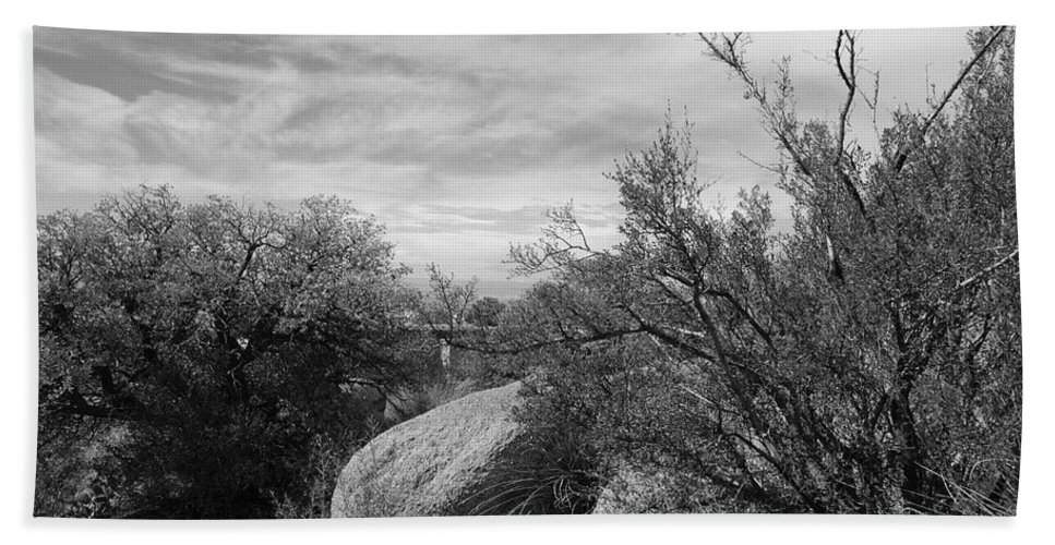 Black And White Bath Sheet featuring the photograph Cibola National Forest by Rob Hans