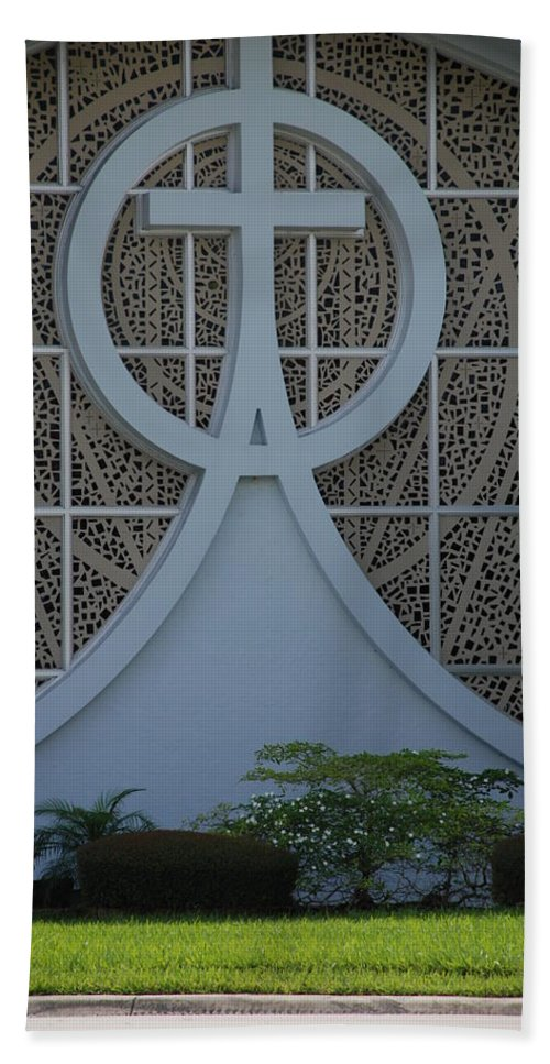 Church Hand Towel featuring the photograph Circle T Church by Rob Hans