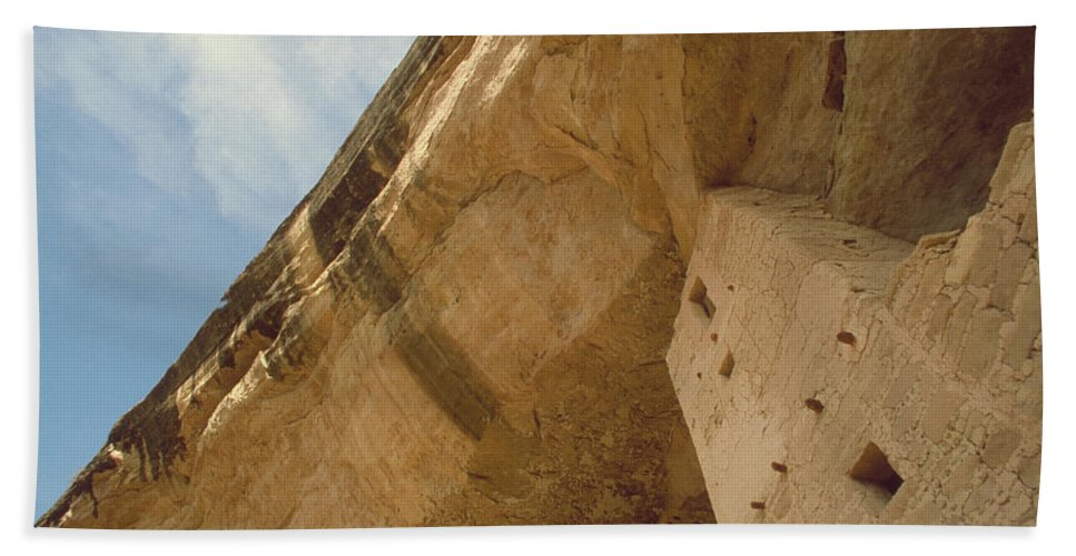 Mesa Verde Hand Towel featuring the photograph Cliff Palace by Jerry McElroy
