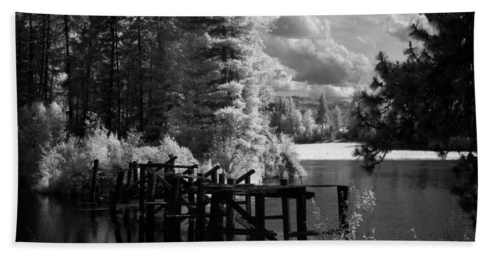 Landscape Hand Towel featuring the photograph Cocolala Creek Slough by Lee Santa
