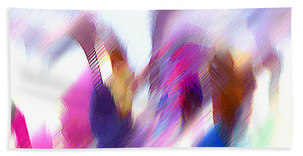 Digital Media Hand Towel featuring the painting Color Dance by Anil Nene