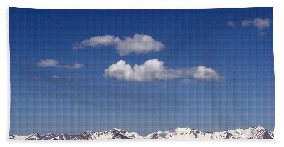 Mountains Bath Sheet featuring the photograph Colorado by Amanda Barcon
