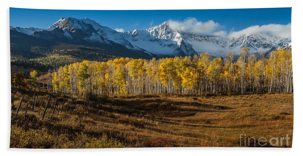 Nature Bath Sheet featuring the photograph Colorado Fall II by Steven Reed