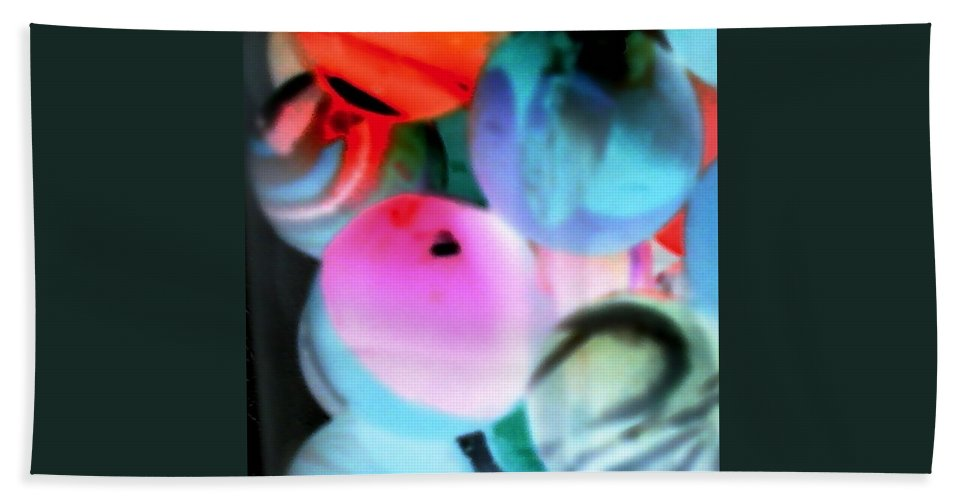 Pink Red Blue Circles Colors Bath Sheet featuring the photograph Colors 1 by Cindy New