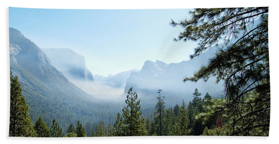 El Capitan Bath Towel featuring the photograph Controlled Burn Of Yosemite by Michael Bessler