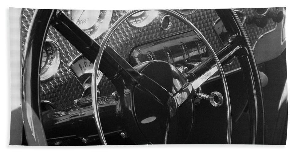 Cord Bath Sheet featuring the photograph Cord Phaeton Dashboard by Neil Zimmerman