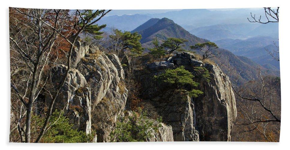 Korea Hand Towel featuring the photograph Daedunsan by Michele Burgess