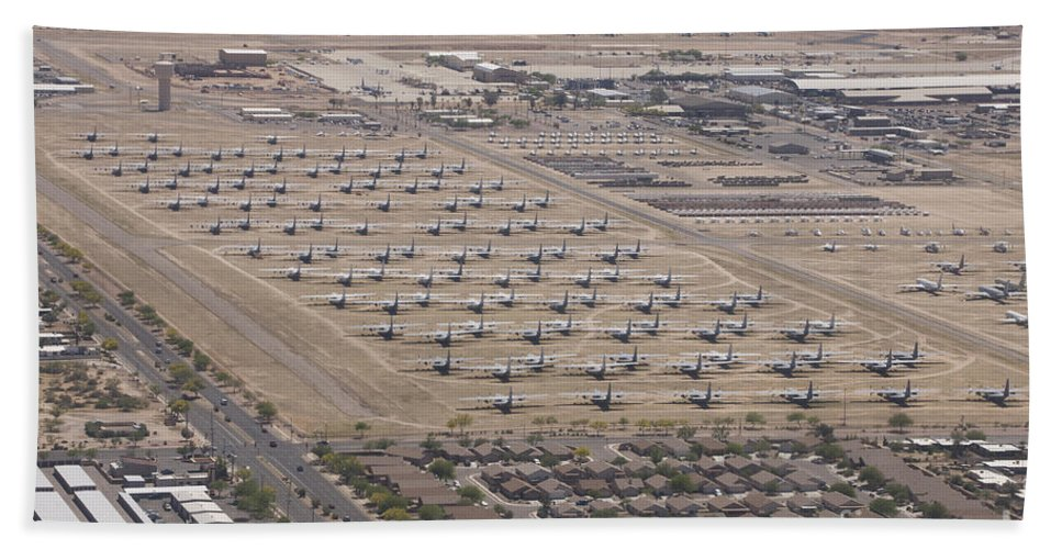 Exercise Angel Thunder Bath Sheet featuring the photograph Davis-monthan Air Force Base Airplane by Terry Moore