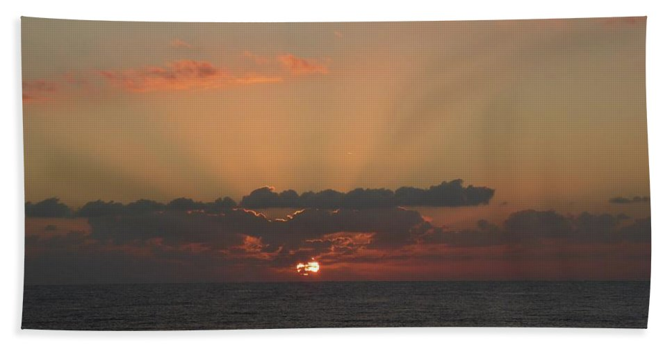 Sunrise Hand Towel featuring the painting Day Dawns by Rayne Van Sing